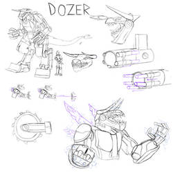 Lightning Dog Idea: Dozer by BigBadShadowMan