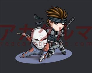 MGS1: Fox and Snake by redcarstudios