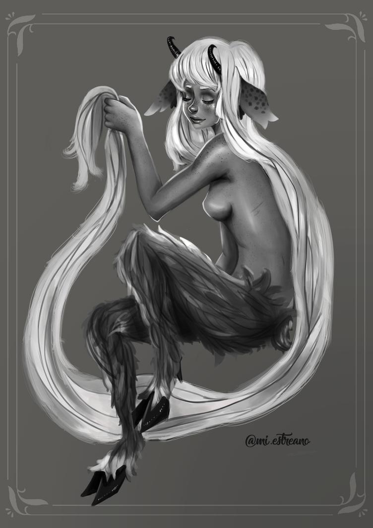 Faun girl by MichaellaMEstreano