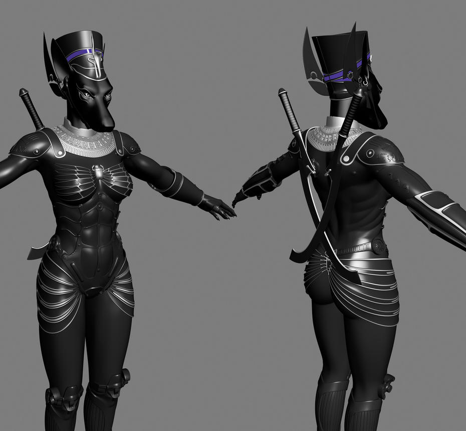 Future egyptian armor by Bianor