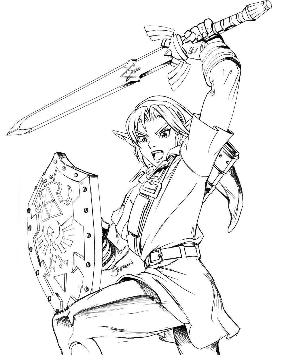 zelda coloring pages - legend zelda by jubran on deviantart