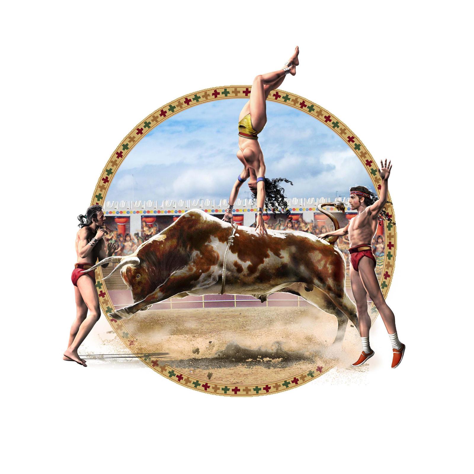 bullfight knossos by Jubran