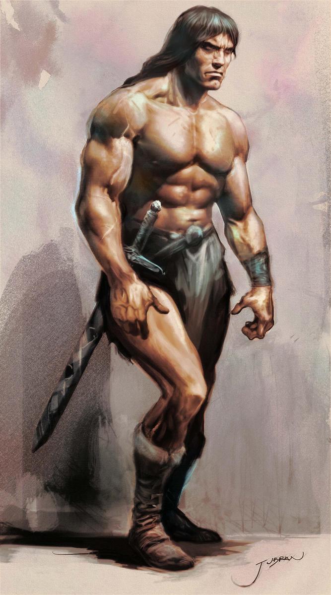 FAN ART - Page 2 Conan_the_barbarian_study_by_jubran-d77iwrq