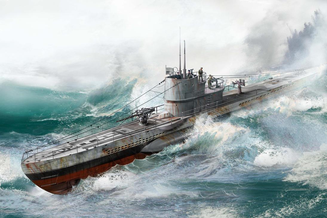 Submarine U-513 by Jubran