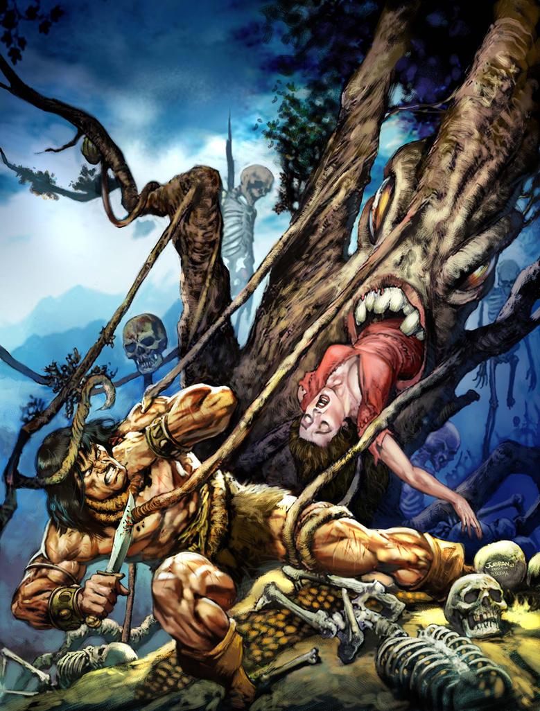 Conan facing the ugly tree by Jubran