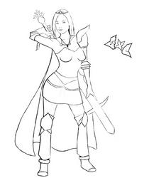 Armadyl girl lineart