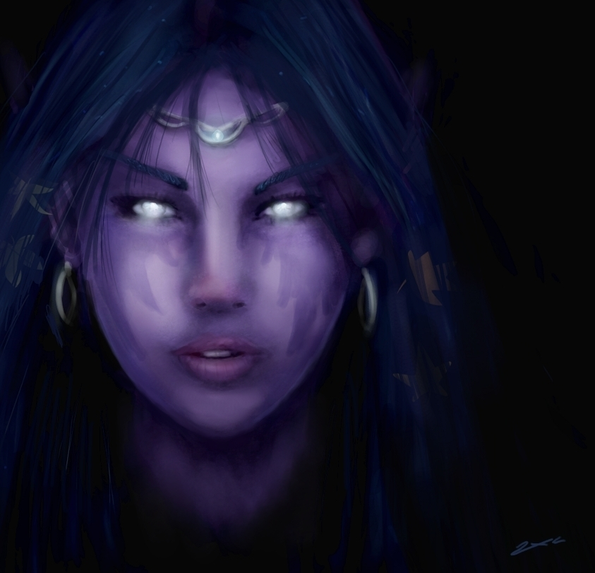Night elf, my version by ZxC-Kate