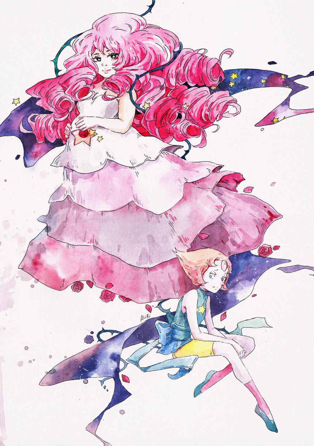 Rose quartz and pearl steven universe by analibi on deviantart - Rose quartz steven universe wallpaper ...