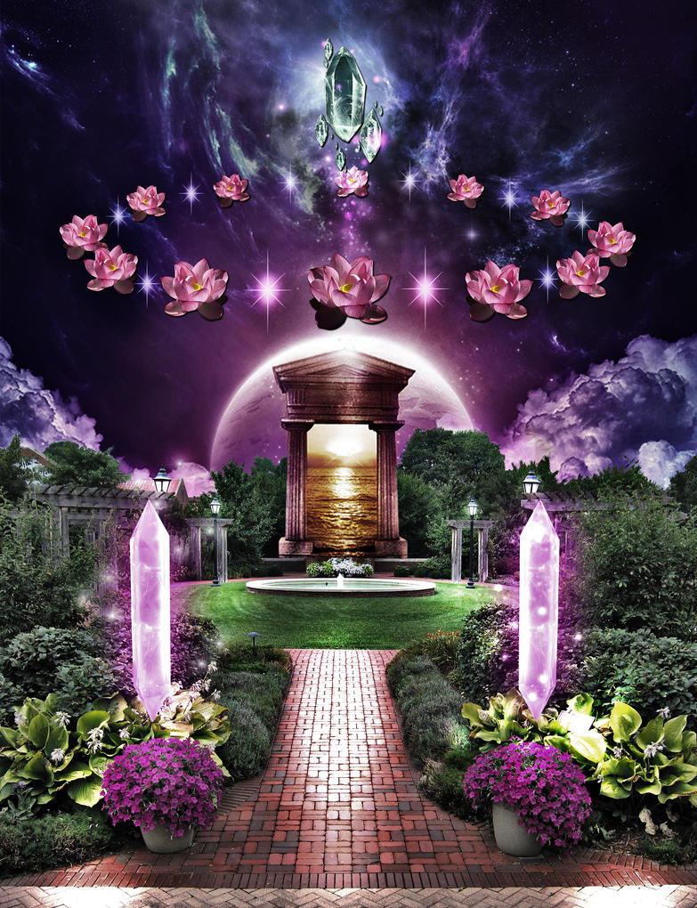 mystical crystal garden in 5d by iamcampagne - Crystal Garden