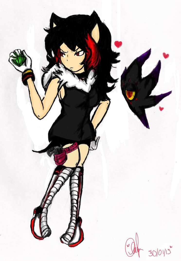 Shadow the hedgehog version femenina gijinka by ...