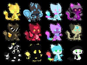 Colorful Cat Batch -2/12 OPEN-