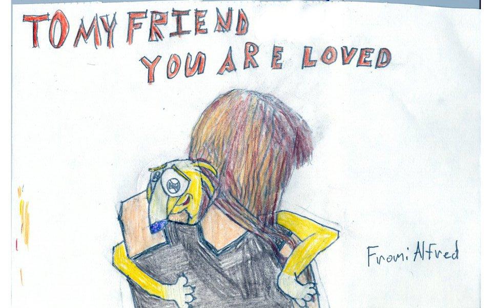 Alfred Alfer RP hugging my friend by LightsaberGuy