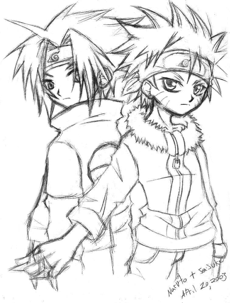 Naruto and Sasuke pOo SkEtCh by hellsingfan