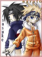Naruto and Sasuke pOo CG by hellsingfan