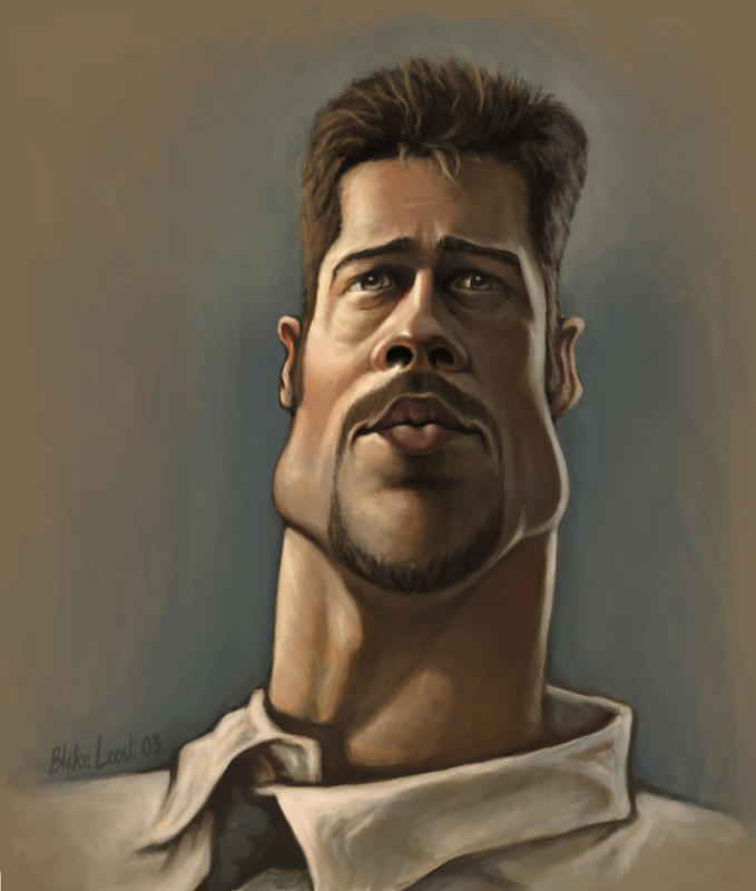 Brad Pitt by infernovball
