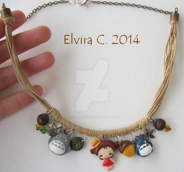 My neighbor Totoro necklace by elvira-creations