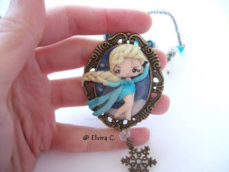 Elsa cameo necklace by elvira-creations