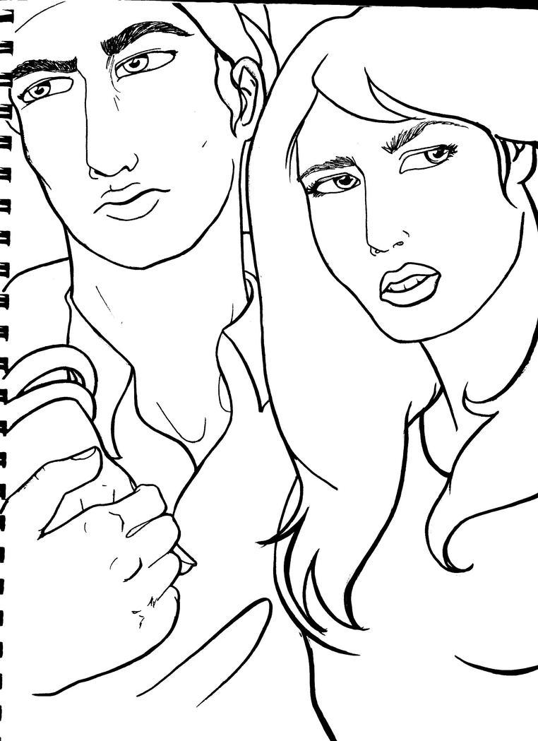 Hadji and Jessie inked by phenks on DeviantArt