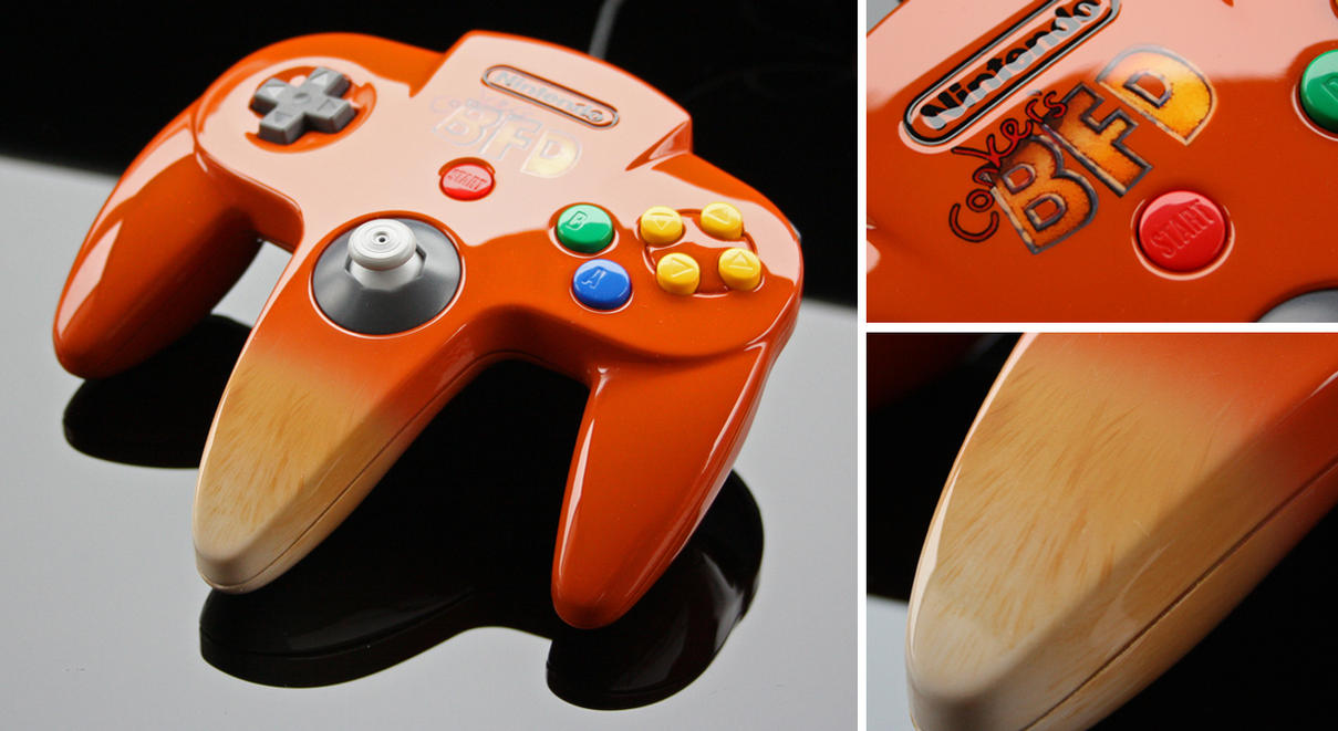 Custom Conker's BFD N64 controller by Zoki64