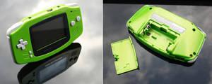 Custom pearl green Gameboy Advance GBA