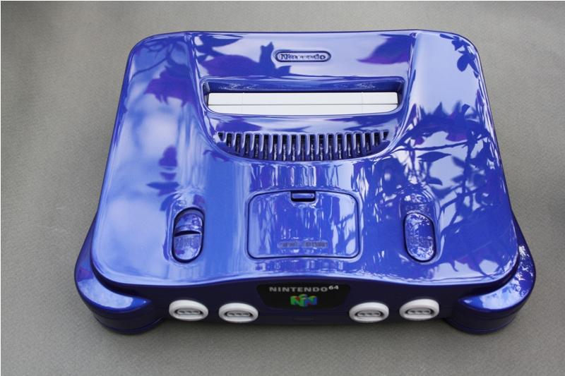 custom painted pearl blue Nintendo 64 N64 by Zoki64