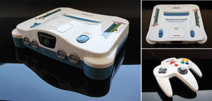 Custom starfox themed Nintendo 64