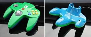 Custom Luigi N64 controller