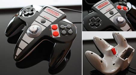 custom NES themed N64 controller by Zoki64
