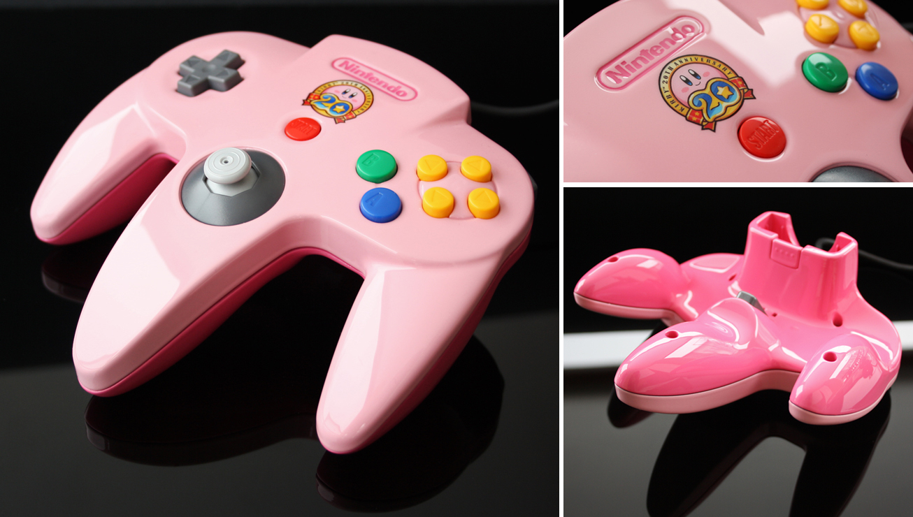 custom Kirby's 20th anniversary N64 controller by Zoki64