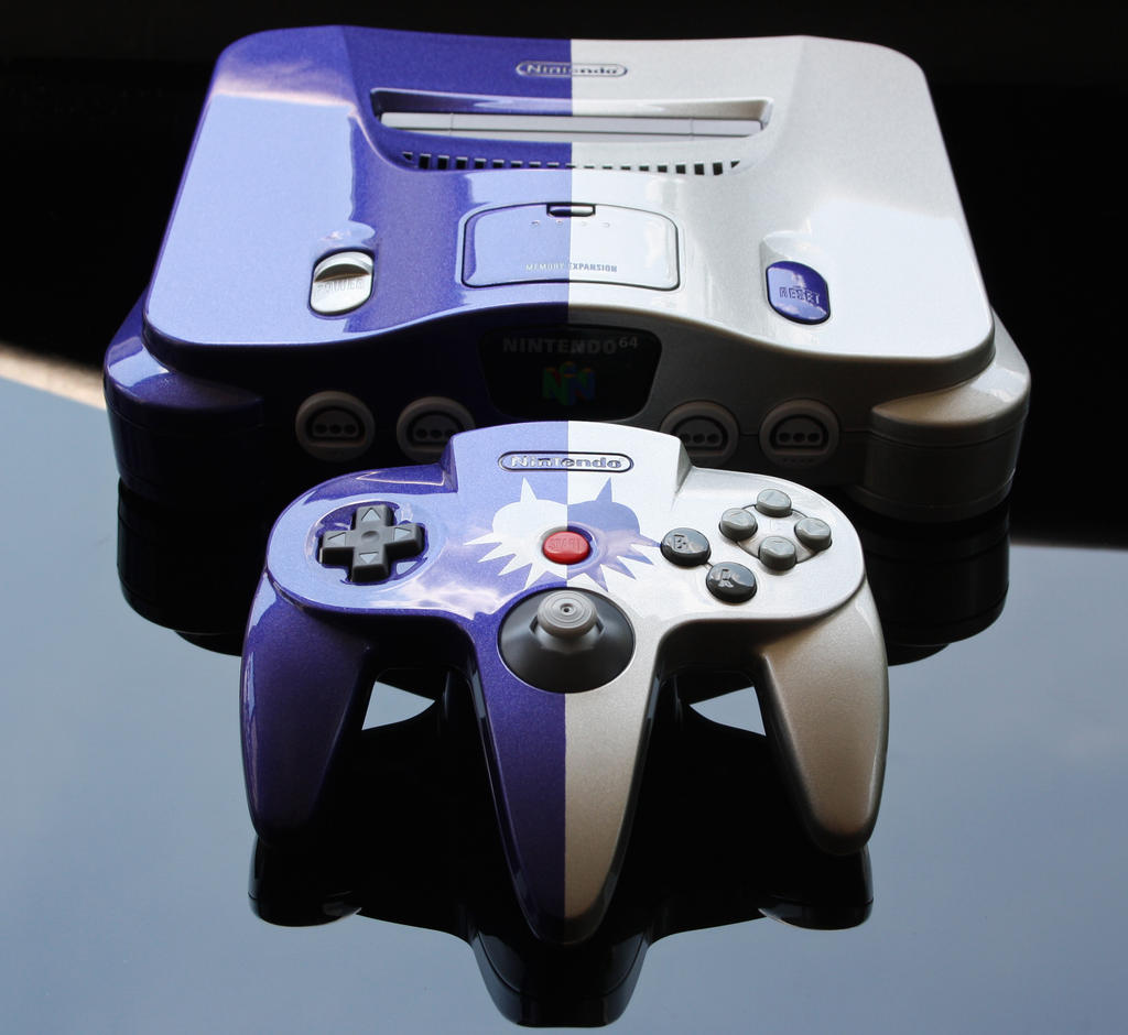 Custom Majora's Mask Nintendo 64 console by Zoki64