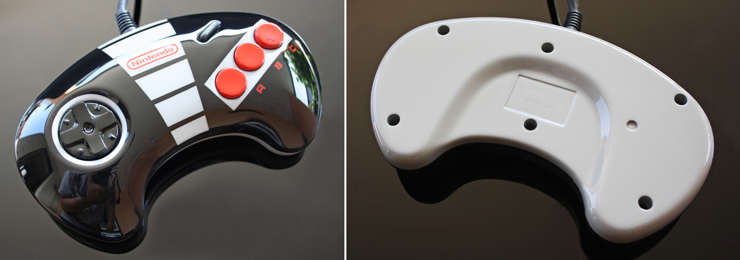 custom NES themed sega genesis controller by Zoki64