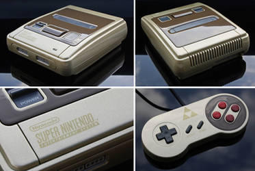 custom Zelda themed Super Nintendo (PAL)  by Zoki64