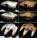 Custom Ocarina of Time themed Nintendo 64 (met