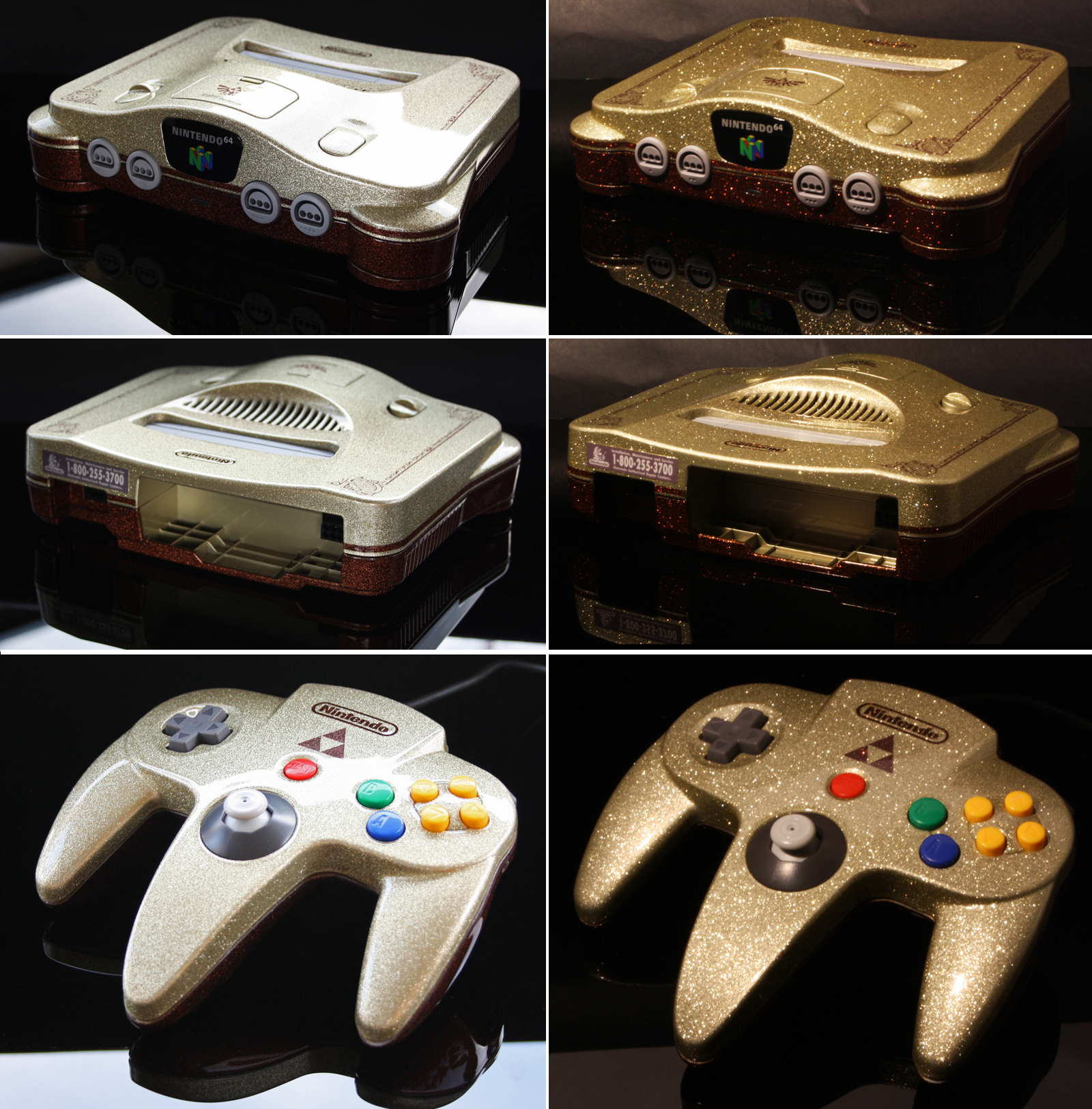 Custom Ocarina of Time themed Nintendo 64 (met by Zoki64