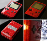 Custom Gameboy pocket with a red metal flake p