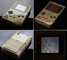 custom Zelda Gameboy (gold flake)
