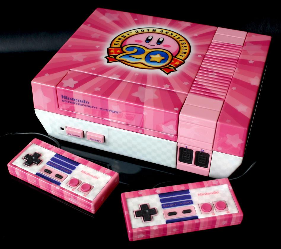 custom Kirby 20th anniversary NES by Zoki64