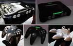 custom piano black shaved Nintendo 64