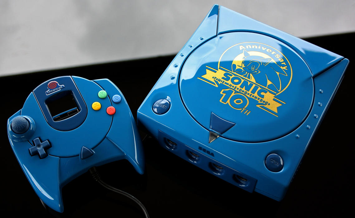 custom Sonic 10th anniversary Sega Dreamcast by Zoki64