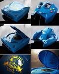 custom Sonic 10th anniversary Sega Dreamcast