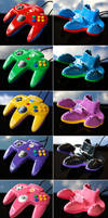 custom Mario Party N64 controllers