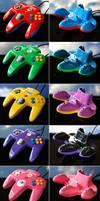 custom Mario Party N64 controllers