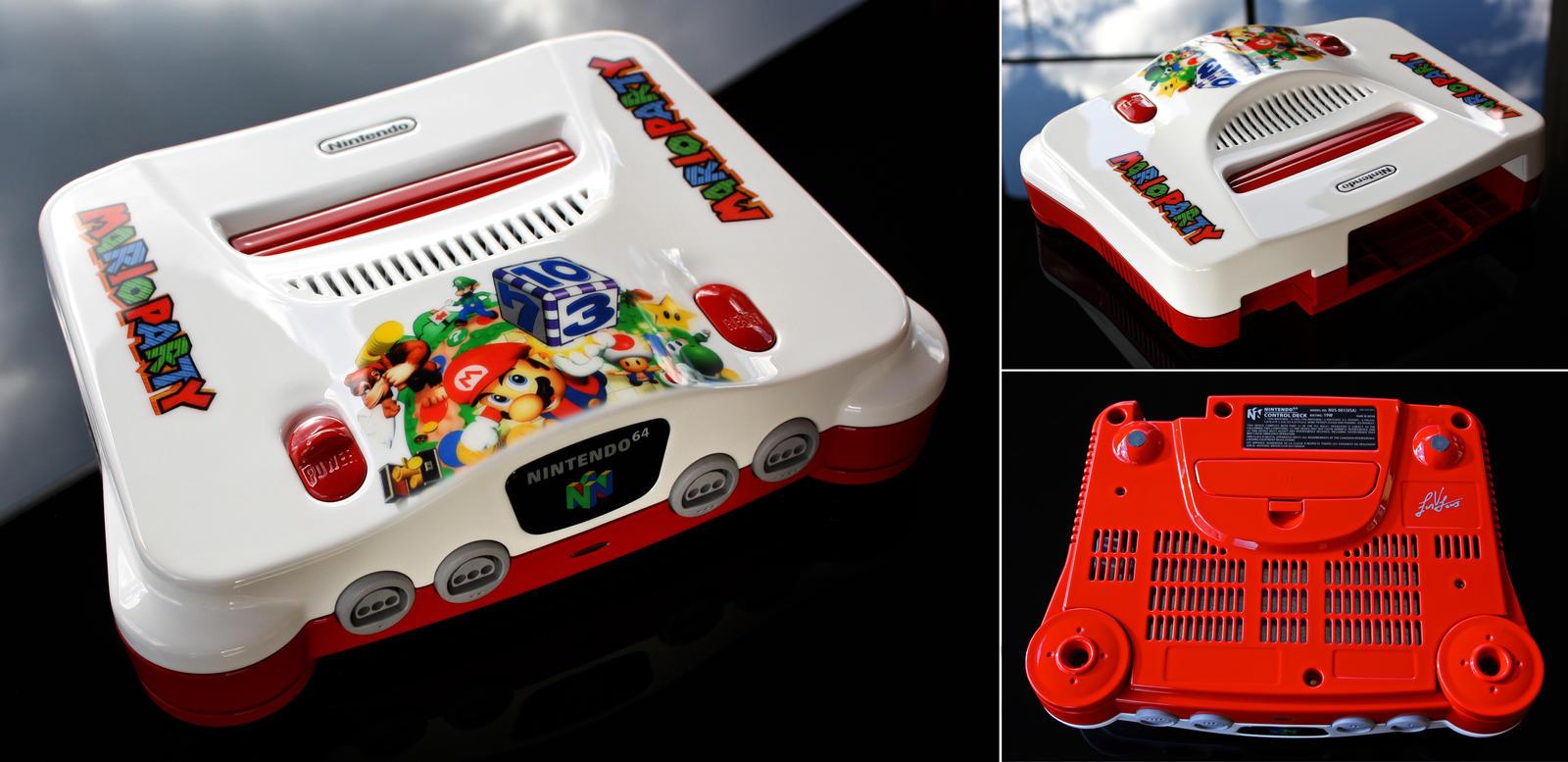 Custom mario party n64 console by zoki64 on deviantart - Super nintendo 64 console ...