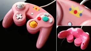 custom Peach gamecube contoller
