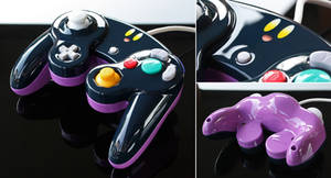 custom Kirby GC controller (smash bros alternate c