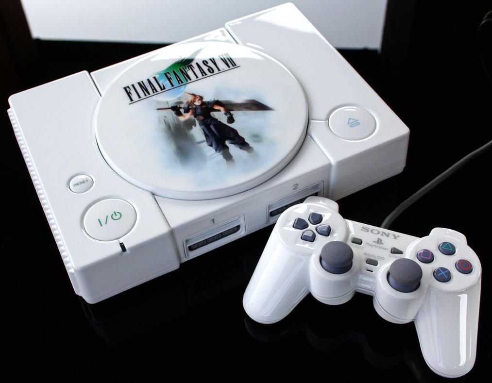 custom Final Fantasy VII playstation by Zoki64