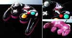 custom Mewtwo gamecube controller