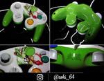 custom Yoshi gamecube controller