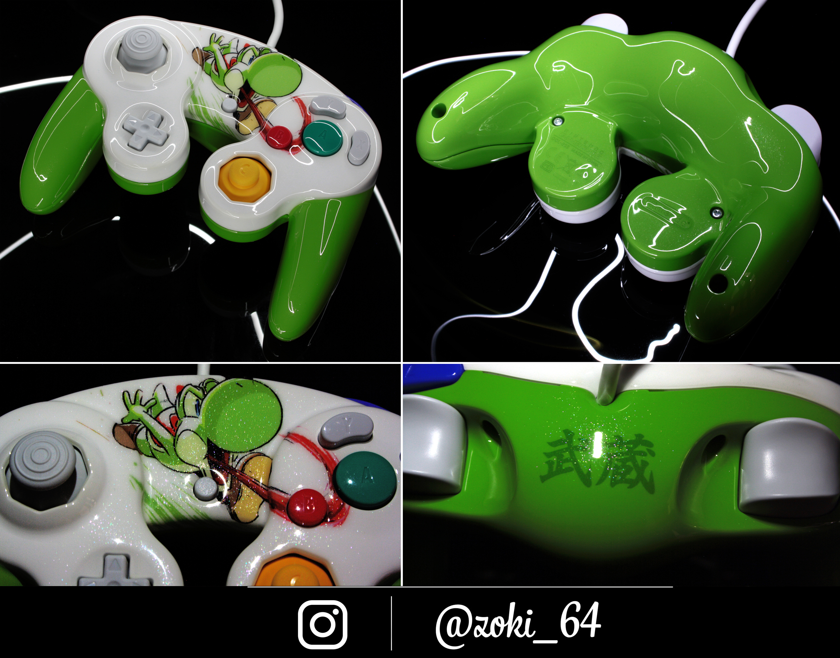 custom Yoshi gamecube controller by Zoki64