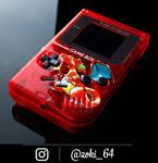 custom Gameboy Pokemon RED - charizard theme